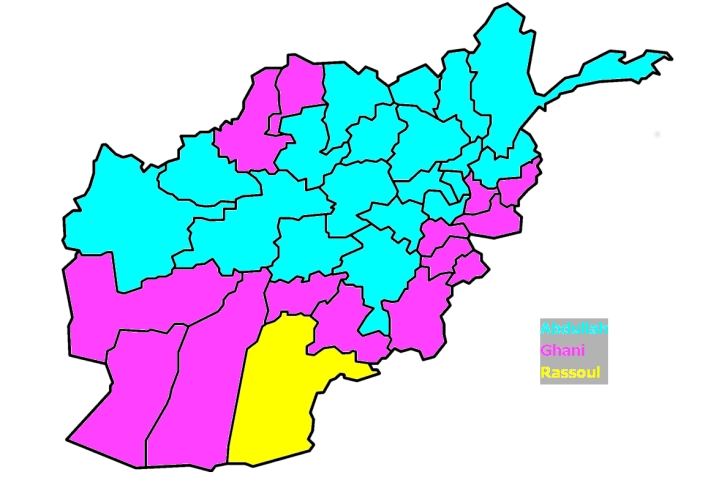 Afghanistan 2014 Winners by Province
